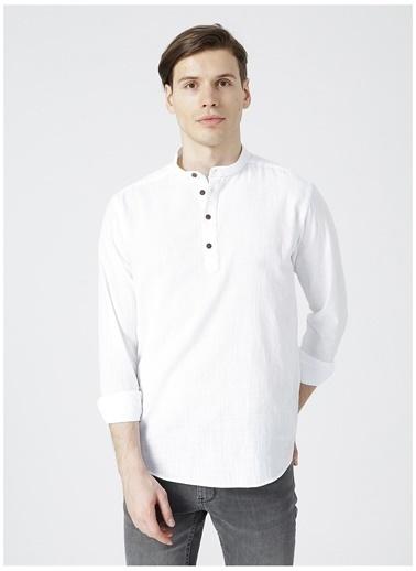 Limon Company Limon Beyaz Hakim Yaka Erkek Gömlek Beyaz